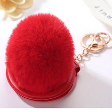 Load image into Gallery viewer, Fluffy Compact Mirror Keychain - Trendznstuff