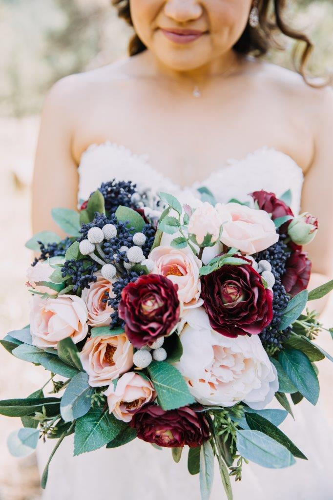 Burgundy_and_Blue_Silk_Bridal_Bouquet