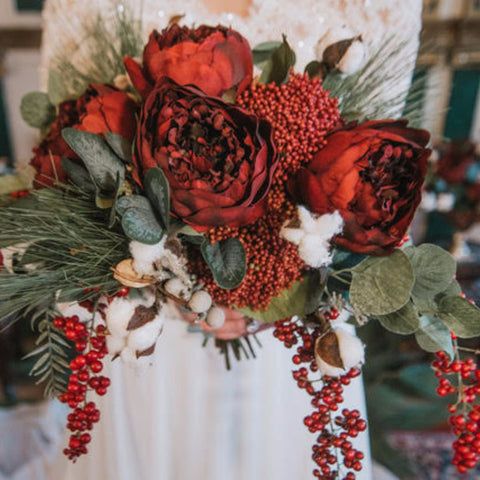 Holiday_Red_Faux_Bouquet