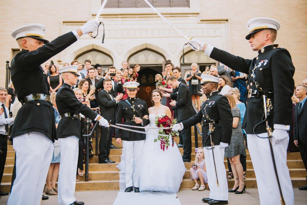 Red_Silk_Bouquet_Military_Wedding
