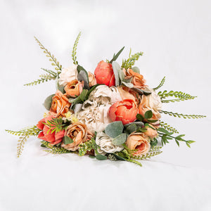 Faux Bouquet Peach - Medium