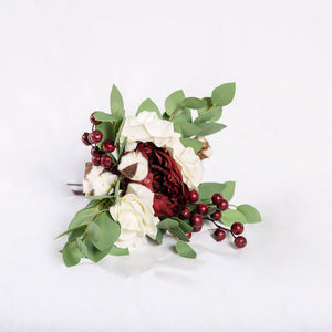 Faux Flower Burgundy - Bridesmaid