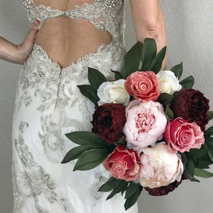 50 Shades of Pink Bridal Bouquet