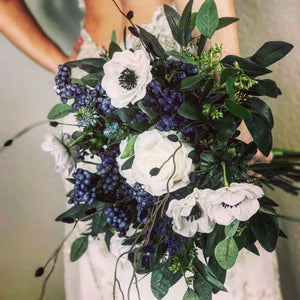 Blue Wildflower Bridal Bouquet