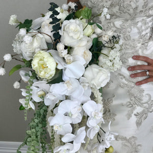Cascading White Bridal Bouquet