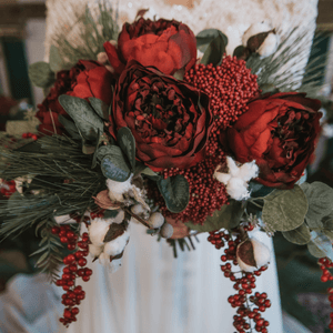 Holiday Red Bridal Bouquet