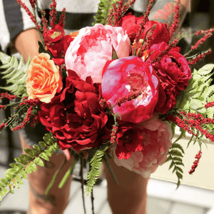 All the Pinks Bridal Bouquet