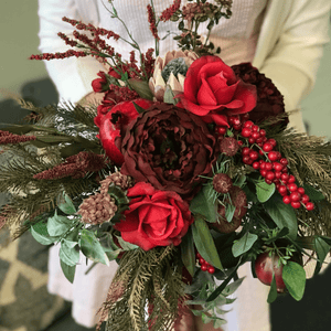 Royal Red Bridal Bouquet
