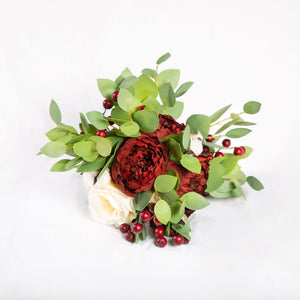 Silk Bouquet Cranberry - Medium