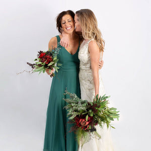 Silk Bouquet DarkRed - Bridesmaid