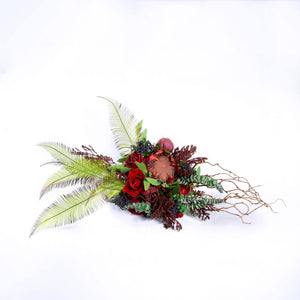 Silk Bouquet DarkRed - Medium