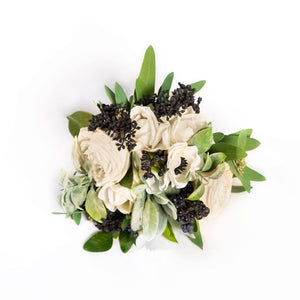 Silk Bouquet White - Bridesmaid
