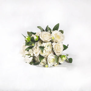 Silk Bouquet White - Medium