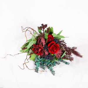 Silk Flower Burgundy - Bridesmaid