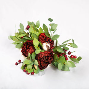 Silk Flower Burgundy - Medium