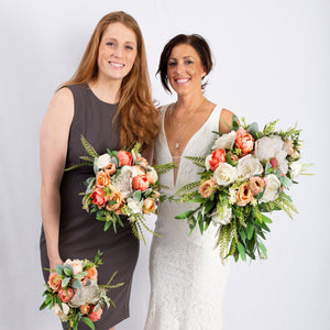 Silk Flower peach - Bridesmaid