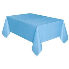 Light Blue Plastic Tablecloth