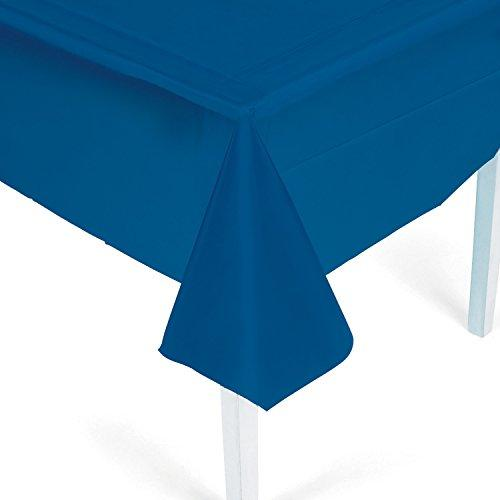 Navy Blue Plastic Tablecloth