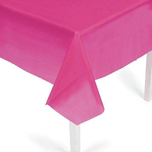 Hot Pink Plastic Tablecloth