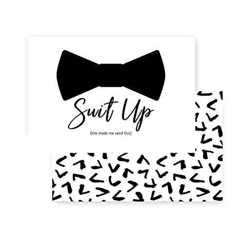Suit Up Will You Be My Groomsmen Card Best Man Wedding Party Fun
