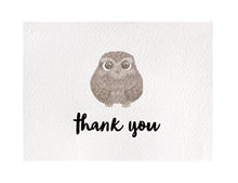 Cute Woodland Animal Thank You Cards and Gray Self Seal Envelopes
