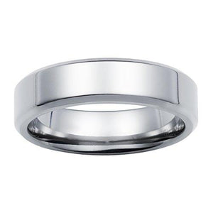 Comfort Fit High-Polished Titanium Wedding Band Ring