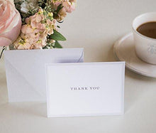 Small Thank You Cards, Gray Note Cards, Classic Professional Stationary