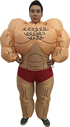 Kacm Adult Muscle Man Popeye The Sailor Man Inflatable Suits Halloween Costume