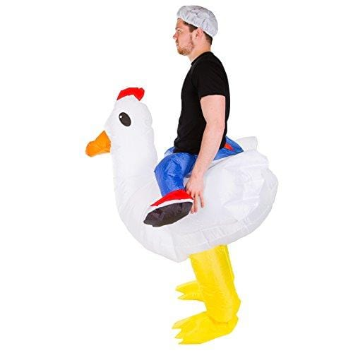 Bodysocks Adult Inflatable Chicken Fancy Dress Costume