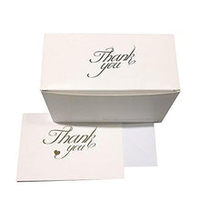 Thank You Cards with Heart – 50 Beautiful Gold Foil Printed Cards with Envelopes