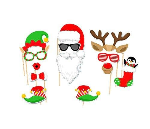 Xmas Santa Party Card Masks