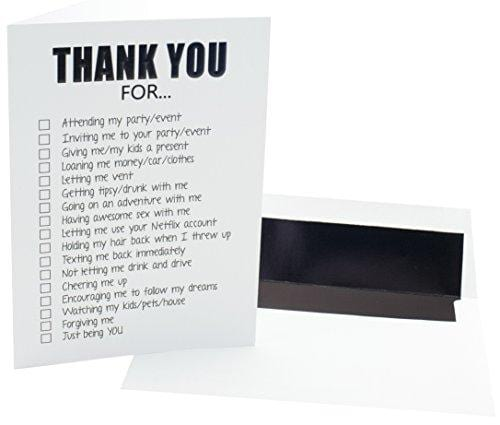 Funny Adult Thank You Cards