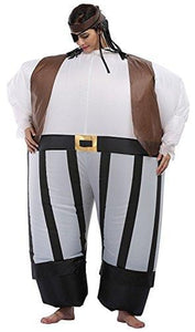 Wecloth Adult Inflatable Pirate Suit Costume Dress Funny Suit Jumpsuit Inflatable Suit