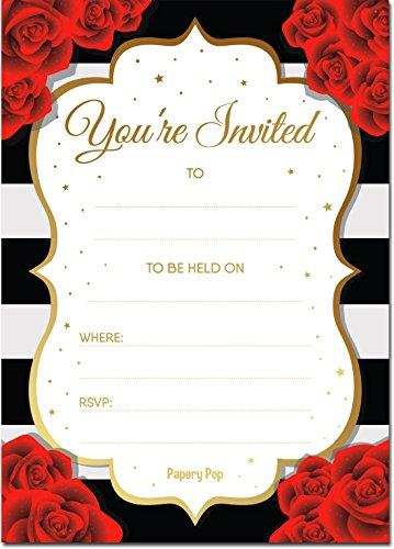 30 Invitations with Envelopes