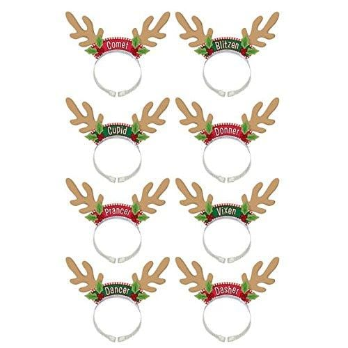 Amscan Fun-Filled Christmas & Holiday Party Santa's Reindeer Pack