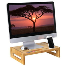 Bamboo Wood Monitor Stand