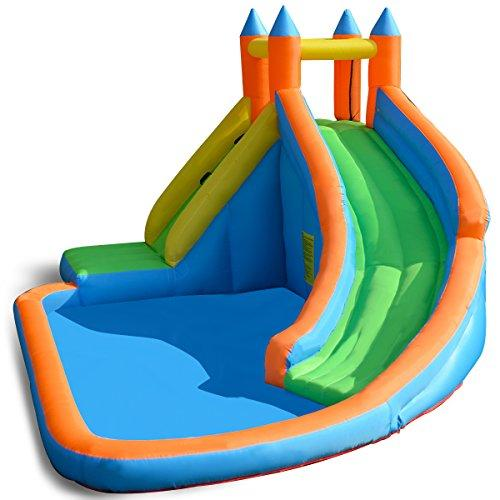 Costzon Inflatable Slide Bouncer Castle Bounce House Without Blower