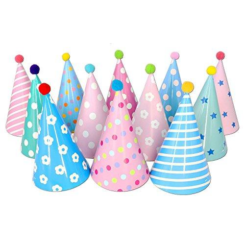 Happy Birthday Paper Party Cone Hats