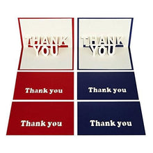LiDago 6 Sheets 3D Pop Up thank you Cards