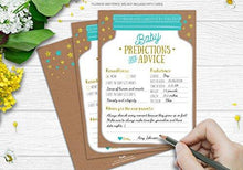 Jar Baby Shower Prediction and Advice Cards