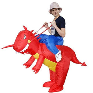 Inflatable Dinosaur Rider Costume