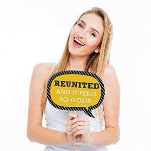 Funny Class Reunion Photo Booth Props Kit