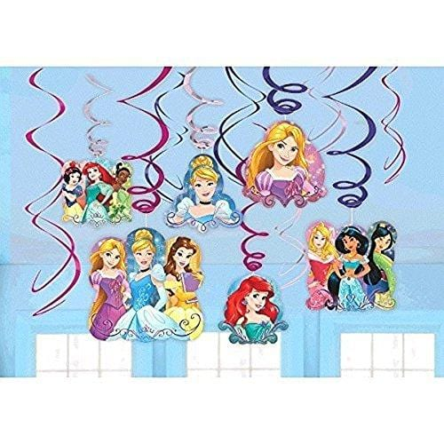 Disney Princess Dream Big Party Foil Hanging Swirl Decorations
