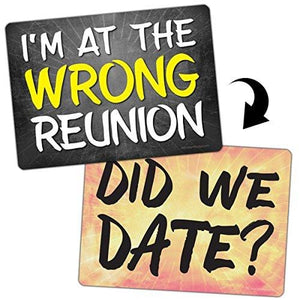 Plastic Photo Booth Prop Signs Set of 8 Phrases REUNION Mix