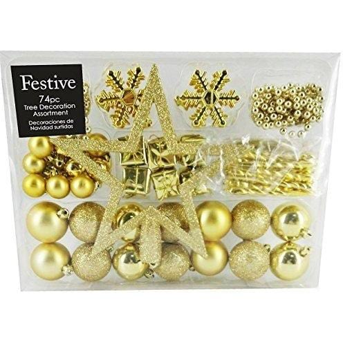 Festive Assorted Christmas Ornament Set