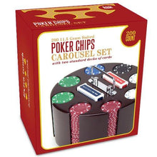Brybelly Poker Chip Set in Wooden Carousel Case
