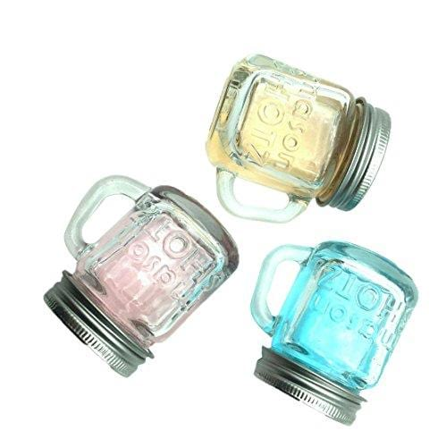 Premium Vials - Mini Mason Jar Shot Glasses with Handles