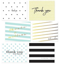 54 Pack Thank You Flat Note Cards