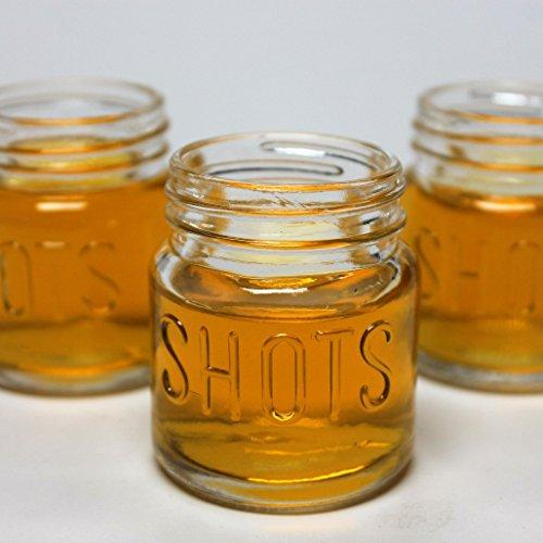 Mason Jar 2 Ounce Shot Glasses Set of 48 With Leak-Proof Lids - Great For Shots, Drinks, Favors, Candles And Crafts