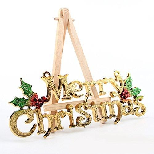 Gold Merry Christmas Words